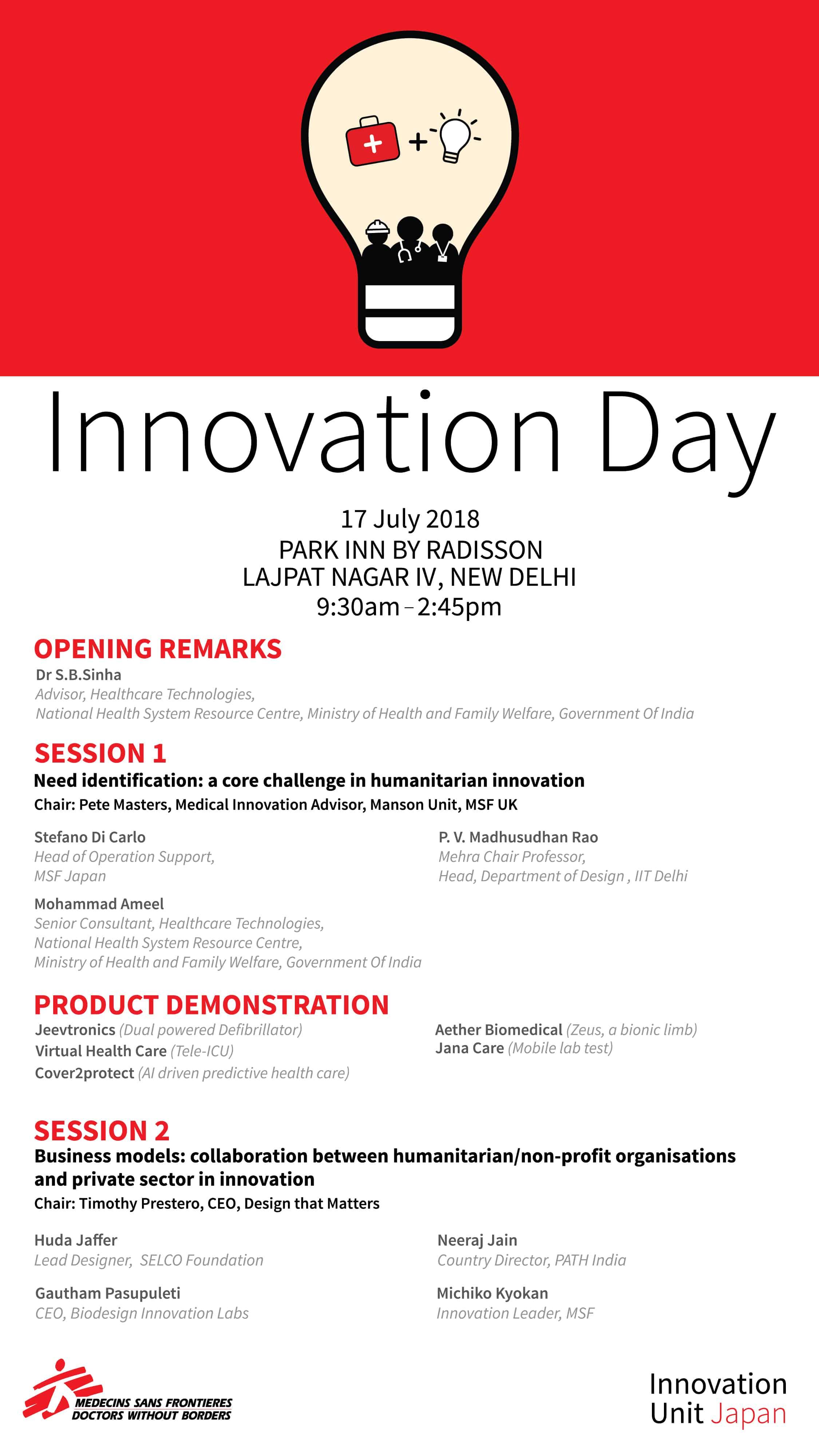 MSF Innovation Day - Agenda