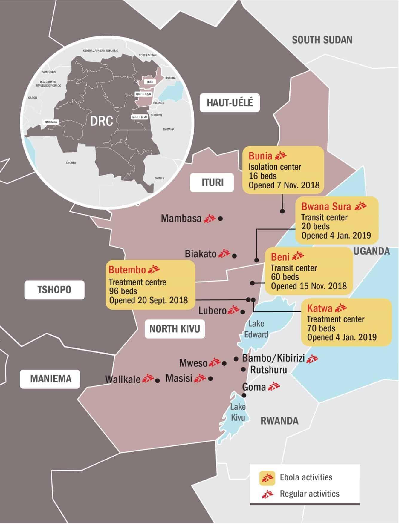 Ebola crisis Map January 2019