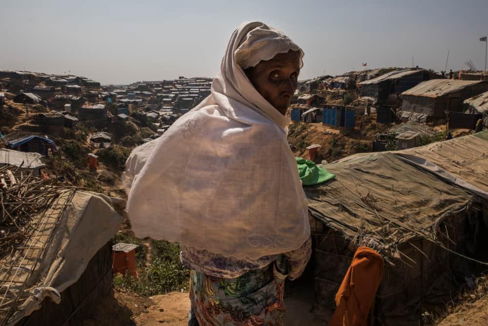 A Rohingya refugee in Jamptoli makeshift camp. Photo: Anna Surinyach