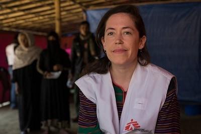 Kate Nolan, MSF emergency coordinator in Bangladesh. Photo: Anna Surinyach